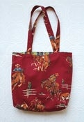 Image of Red Cowboys Tote Bag