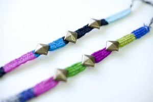 Image of Pyramid Stud Friendship Bracelets