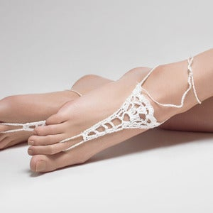Image of Talulah. Crochet Barefoot Sandals