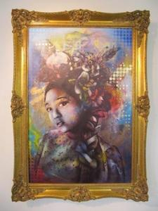 Image of &quot;Delicate&quot; Aerosol Stencil on Canvas by FIN DAC