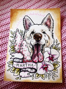 Image of Bespoke Tattoo Style Pet Portrait