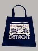 Image of Detroit Boombox Canvas Tote Bag