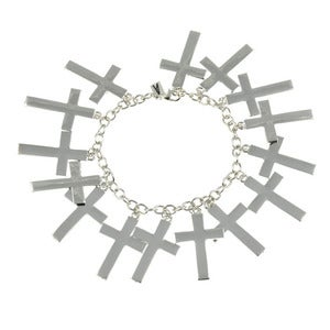Image of Marcia. Fully Loaded Cross Bracelet