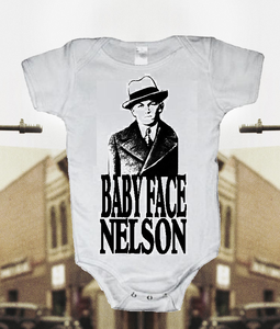 Image of BABYFACE NELSON GANGSTER BABY ONESIE ONE PIECE BODYSUIT