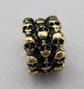 Image of Skulls Antique Gold Band Ring