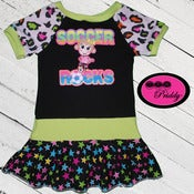 Image of **SOLD OUT** Soccer Rocks Monkey Dress - Size 3T/4T