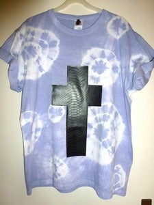 Image of Lilac Faux Snakeskin Cross Tshirt