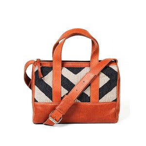 Image of Marilynn Duffle - camel/graphic