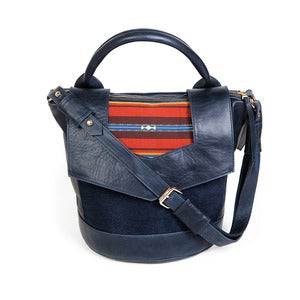 Image of Vinnie Bucket - navy/earthy stripe