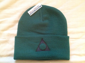 Image of LTD Bottle Green logo beanie