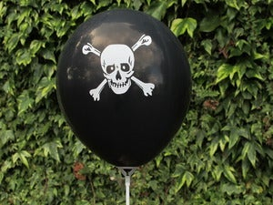 Image of Black Pirate Balloons