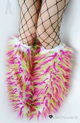 Image of Festival fluffies uv white/neon pink/lime 