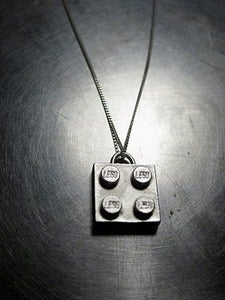 Image of Sterling Silver Lego Necklace