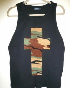 Image of Camo Cross Black Vest