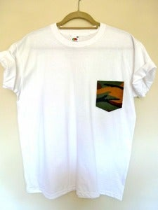 Image of Camo Pocket Effect White Tshirt