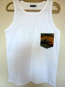 Image of Camo Pocket Effect White Vest