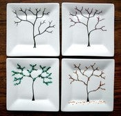 Image of The Four Seasons Appetizer Plates-4 Piece Collection