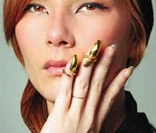 Image of Fashion gold nail ring