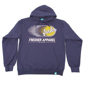Image of Collection 2 Logo Hoodie (Navy/Yellow)