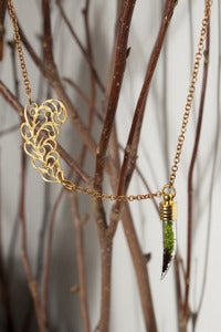 Image of Gold Tusk with Flourish Necklace