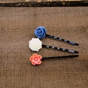 Image of Sail Away - Blooming Bobbies No. 2 {blue, cream, coral}