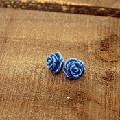 Image of Sail Away - Navy Rose Blooming Studs