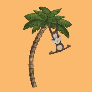Image of Monkey in Palm tree