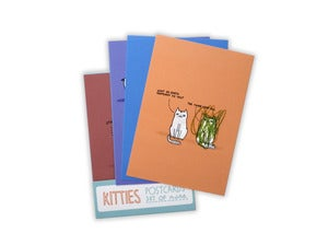 Image of Kitty Cat Postcards - set of 9