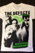 "Image of The Defects-""Defective Breakdown"" T-shirt (Lime Green)"