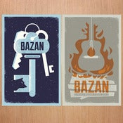 Image of Bazan: 2012 Living Room Tour Poster Set