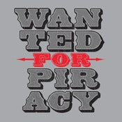 Image of Wanted for piracy tshirt
