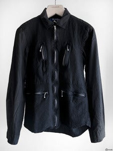 Image of Junya Watanabe MAN - Boiled Wool Zip Front Shirt