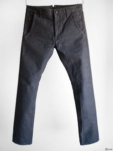 Image of Cloak - Coal Dyed Black Selvadge 5-Pocket Jeans
