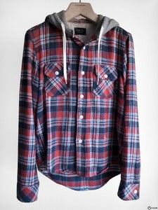 Image of Number (N)ine - FW05 The High Street Hooded Flannel Shirt