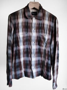 Image of Number (N)ine - FW05 The High Street Shadow Plaid Rayon Shirt