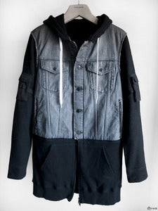 Image of Number (N)ine - Hooded Denim/Wool Parka