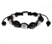 Image of White Crystal and Black Crystal (Alloy) Balla Style  $79.00