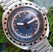 "Image of VINTAGE FAVRE LEUBA DEEP BLUE DAYMATIC WITH ROULETTE BEZEL -- ""THE GRAIL, part 2"" --SOLLLLLD!!!"