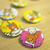 Image of Badge Rilakkuma