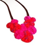 Image of Fuchsia Rosette Necklace