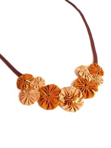 Image of Bronze Rosette Necklace