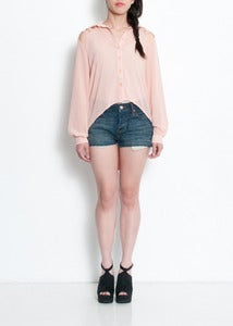 Image of X's Button-up Blouse - Blush