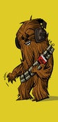 "Image of ""Chewie Rockin'"" mini print"