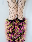 Image of Festival fluffies uv black/pink/yellow