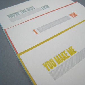Image of fill in the blank letterpress cards: 3 pack