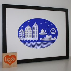 Image of Harbour Town limited edition print (more colours...)