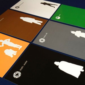 Image of 'THE FORCE' POSTCARD SET By Tevés