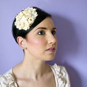 Image of Country Garden Fascinator - Cream