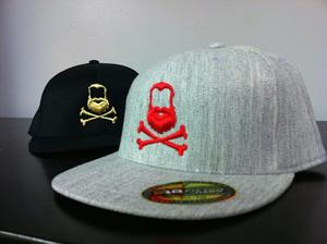 Image of Team Beard Black Hat Fitted & Snap Back