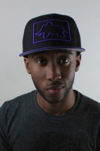 Image of Square Up Snapback Purple/Black